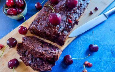 Vegan kersen-chocolade cake glutenvrij