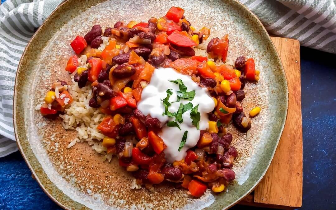 Healthy Vegan Chili sin Carne (glutenvrij)