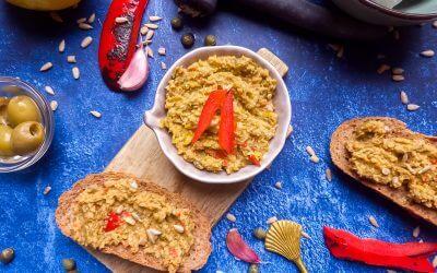Tapenade met olijf en gegrilde paprika
