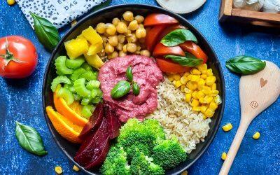 Low budget recept vegan buddha bowl