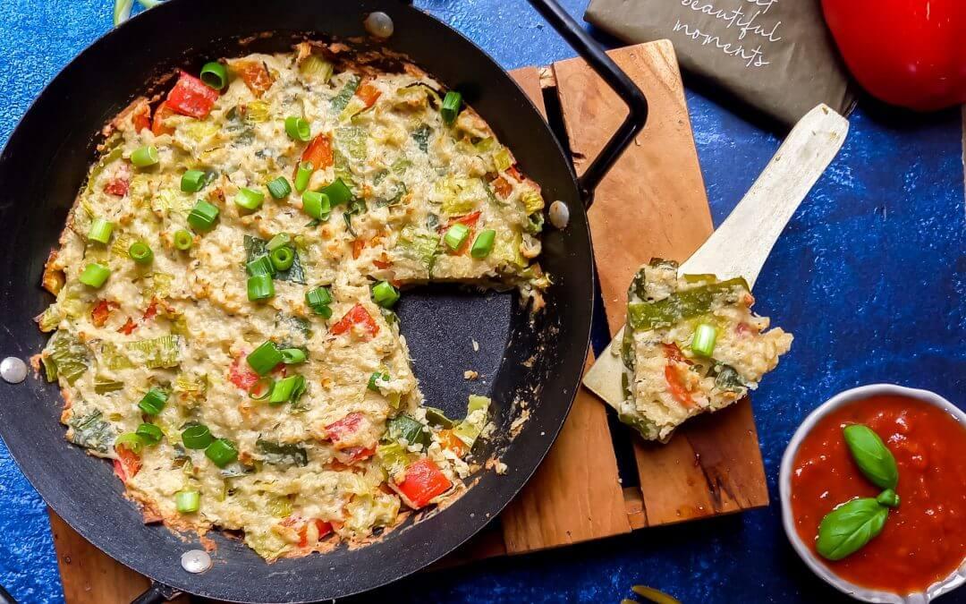 Healthy Vegan Fritatta (zonder tofu)
