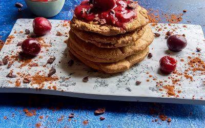 Fluffy american pancakes glutenvrij vegan