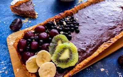 Vegan chocoladetaart ( cheesecake )