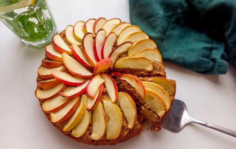 Healthy vegan appeltaart (glutenvrij)