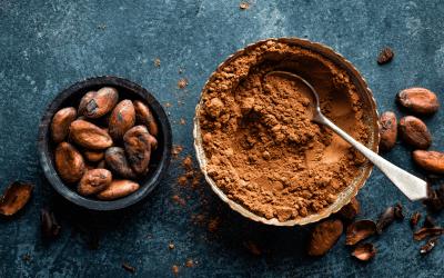 Rauwe cacao bomvol gezondheid