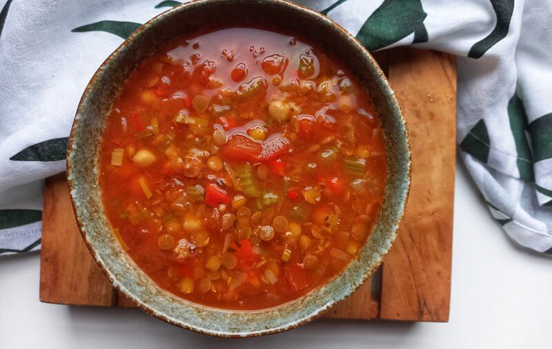 Healthy Vegan pittige Marokkaanse soep (Harira)