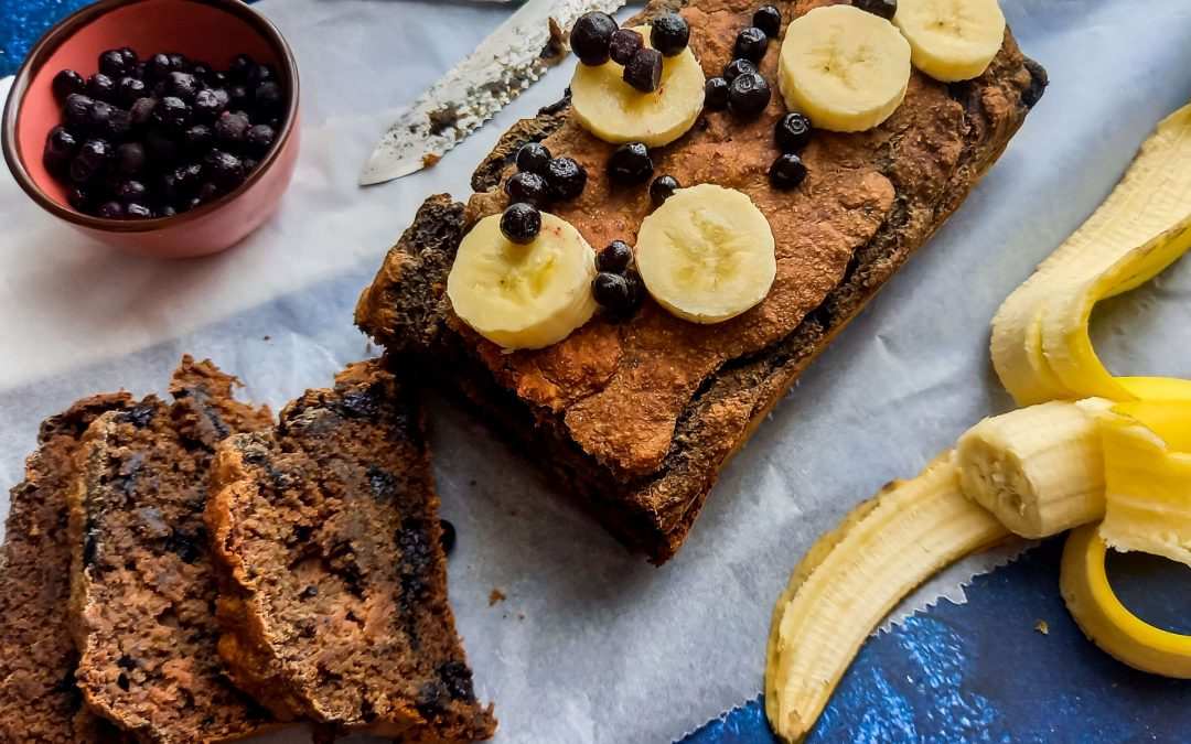 Healthy bananen – bosbessen cake (glutenvrij)