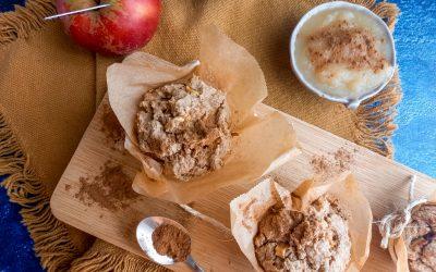 Healthy Vegan appel-kaneel muffins