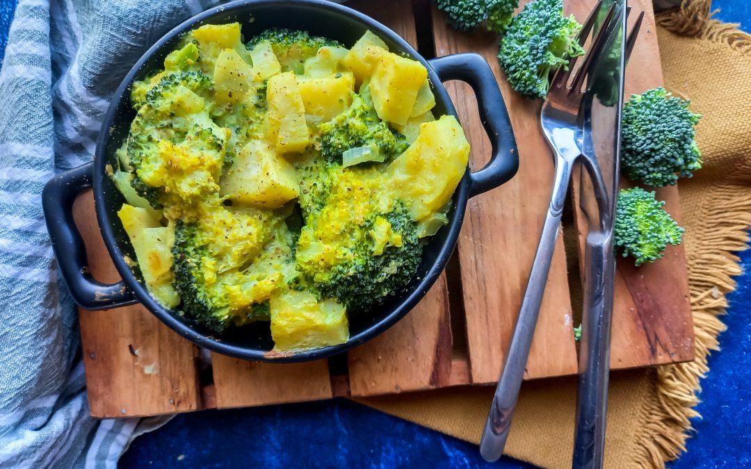 Ovenschotel met pastinaak en broccoli