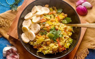 Vegan nasi met banaan